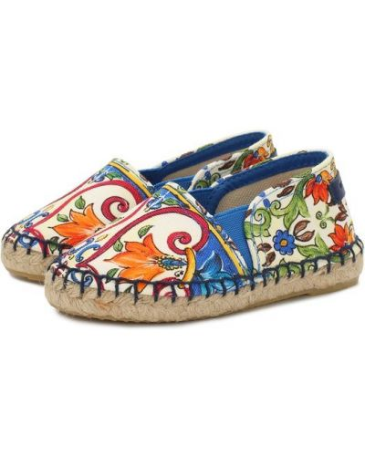 Эспадрильи детский текстильный Dolce & Gabbana
