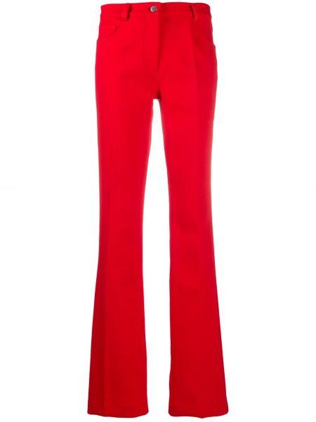 Красные расклешенные брюки с высокой посадкой на молнии Giambattista Valli