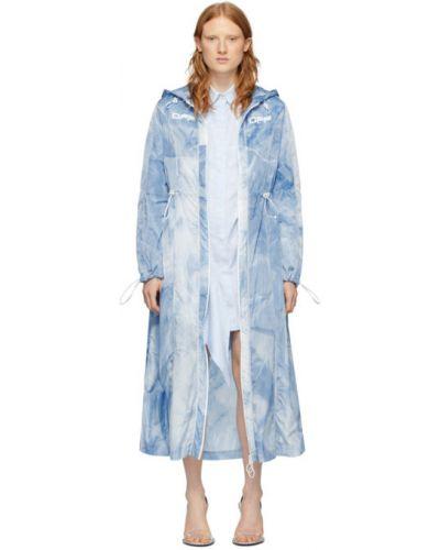 Пальто с капюшоном длинное с принтом Off-white