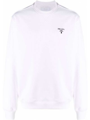 Bluza dresowa - biała Prada