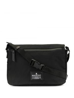 Черная сумка через плечо с перьями Makavelic