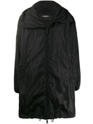Płaszcz przeciwdeszczowy czarny Dsquared2