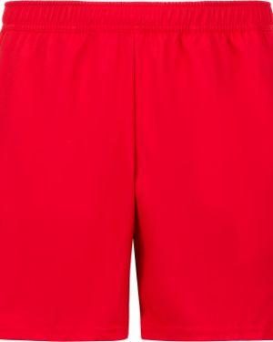Спортивные красные теннисные спортивные шорты с разрезами по бокам Nike