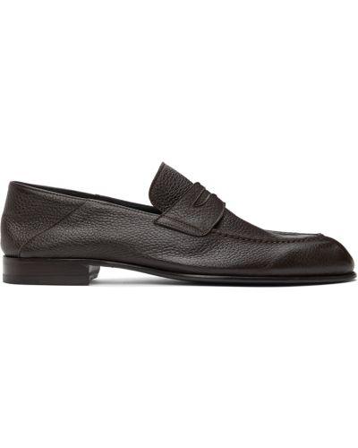 Loafers na obcasie - czarne Brioni
