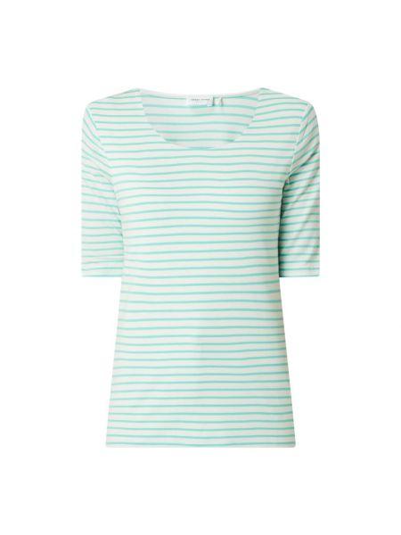 Zielona bluzka w paski z wiskozy Gerry Weber