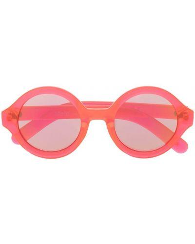 Розовые солнцезащитные очки круглые Molo Kids