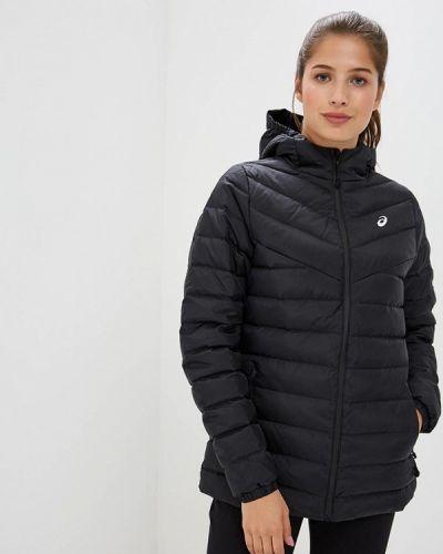Зимняя куртка черная осенняя Asics