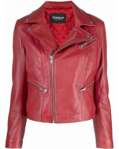 Красная куртка длинная Dondup