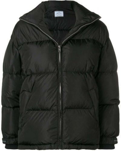 Длинная куртка черная пуховый Prada
