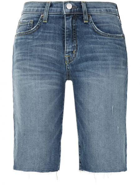 Синие хлопковые джинсовые шорты с поясом Nili Lotan