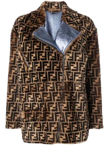Куртка на молнии свободная Fendi
