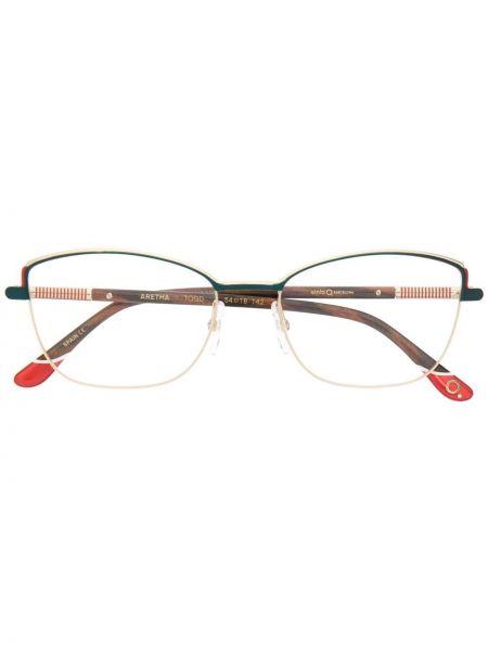 Золотистые желтые очки кошачий глаз металлические Etnia Barcelona