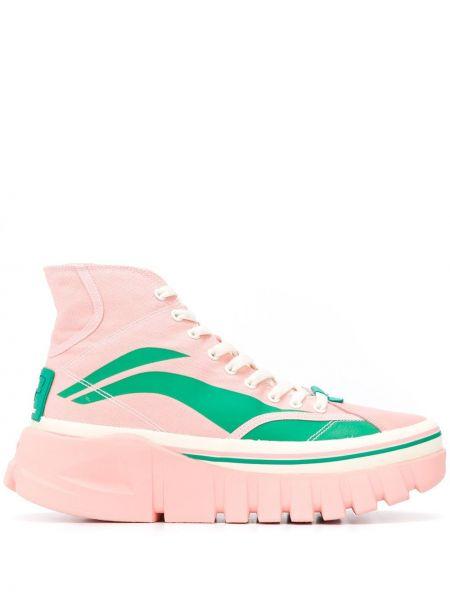 Wysoki sneakersy skórzane z logo Li-ning