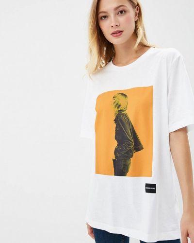 Белая футболка Calvin Klein Jeans