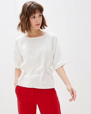 Блузка с коротким рукавом белая With&out