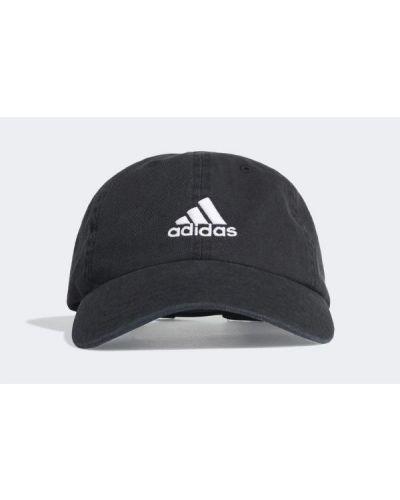 Czarna czapka bawełniana Adidas
