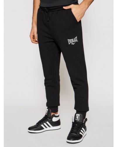Czarne spodnie dresowe Everlast