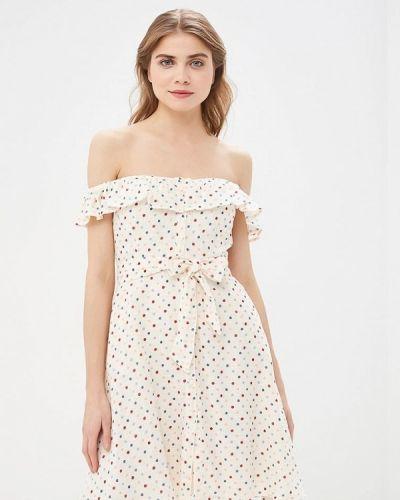 Джинсовое платье с открытыми плечами весеннее Pepe Jeans