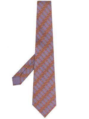 Łańcuszek z jedwabiu w szpic z printem Hermes