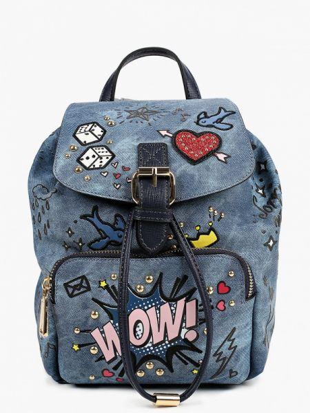 Рюкзак из искусственной кожи синий Aldo