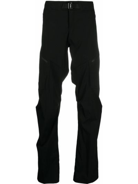 Czarne spodnie z haftem z nylonu Arcteryx