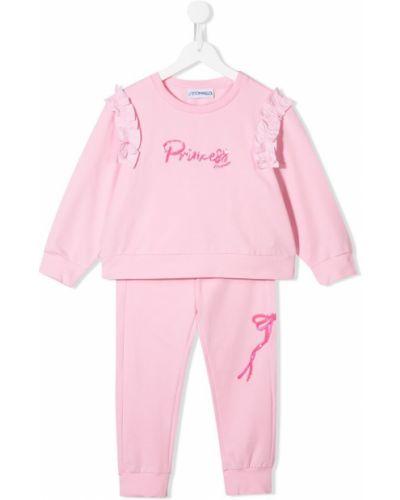 Спортивный костюм розовый эластичный Simonetta