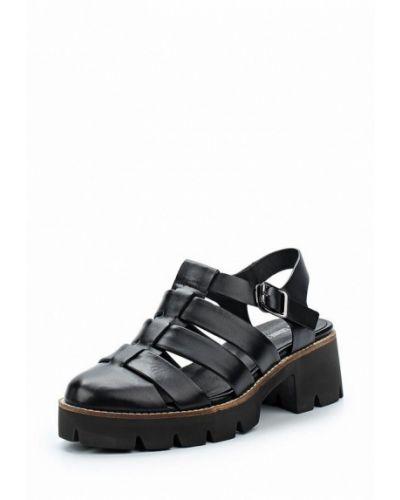 Черные босоножки на каблуке La Grandezza