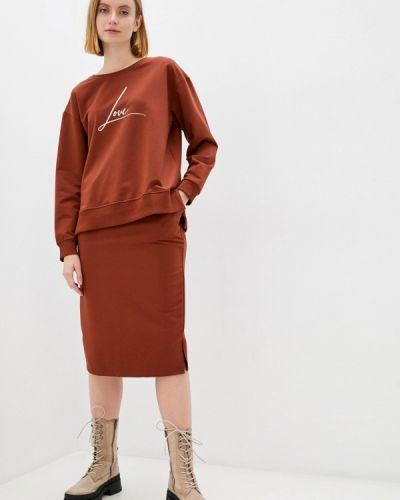 Костюм юбочный - коричневый Miss Gabby