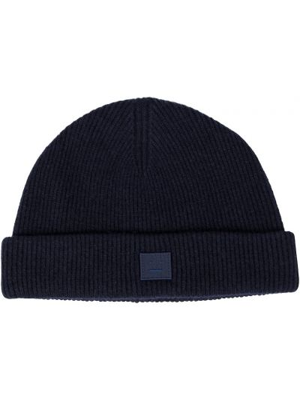 Шерстяная шапка бини - синяя Acne Studios
