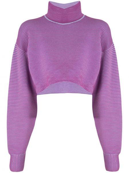 Fioletowy sweter wełniany Nagnata