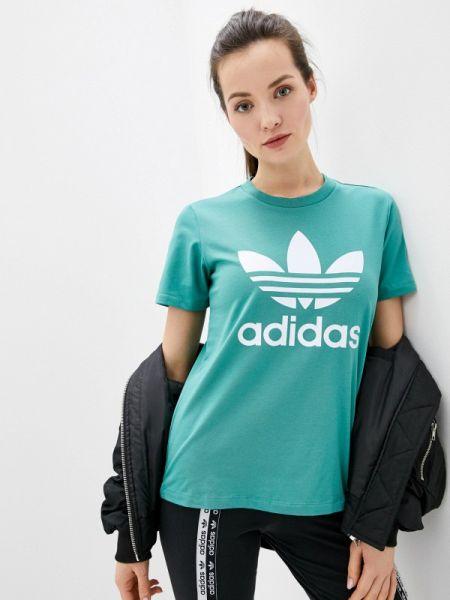 Поло зеленый футбольный Adidas Originals