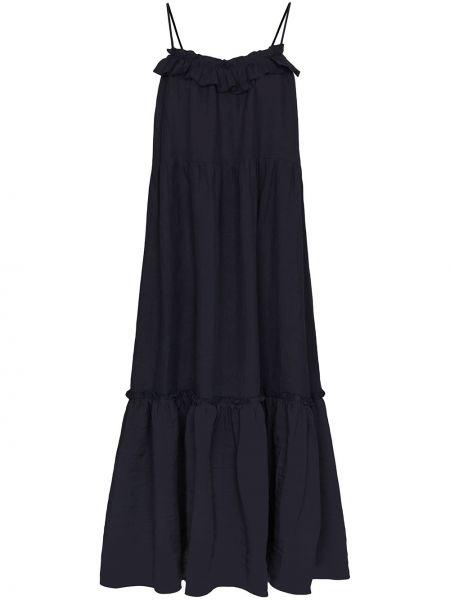 Платье миди каскадное с оборками для танцев с вырезом Araks