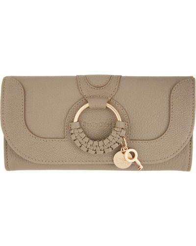 Czarny portfel na monety skórzany See By Chloe