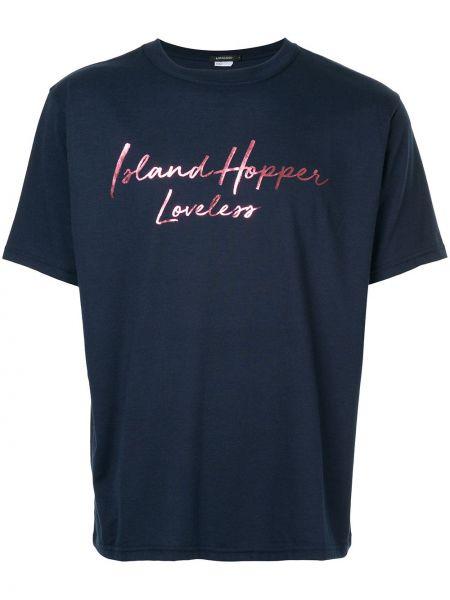 Хлопковая синяя футболка Loveless
