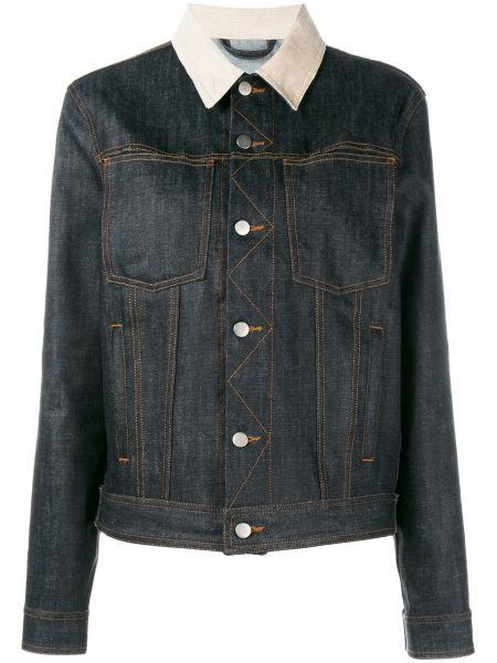 Классическая синяя джинсовая куртка на пуговицах с воротником Holiday