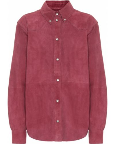 Рубашка кожаная замшевая Isabel Marant Etoile