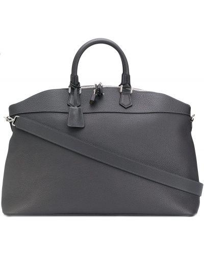Кожаная сумка - серая Serapian