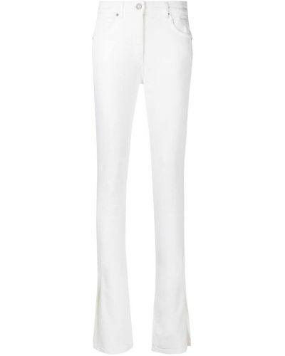 Хлопковые белые джинсы с высокой посадкой Blumarine