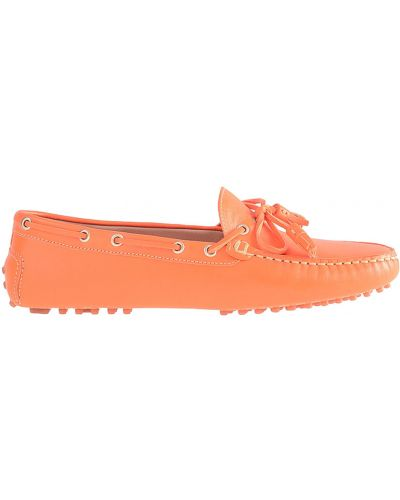 Мокасины кожаные оранжевый Stokton