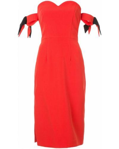 Красное платье с вырезом Milly