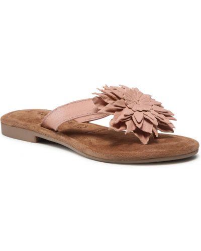 Różowe sandały japonki Tamaris