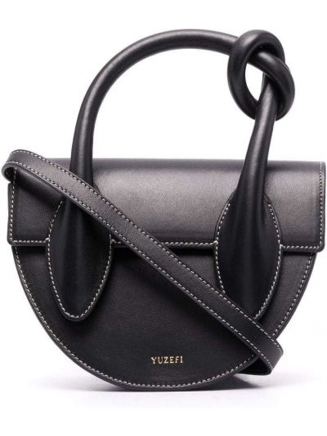 Кожаная сумка - черная Yuzefi