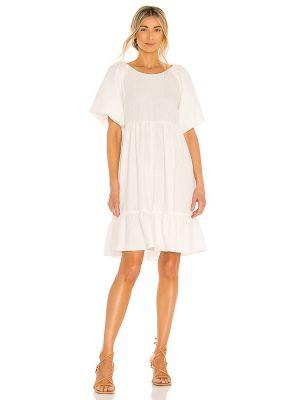Текстильное белое вечернее платье с американской проймой Bcbgeneration