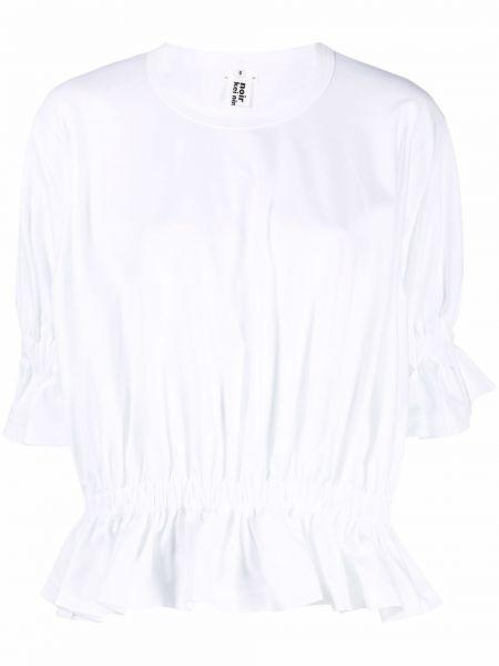 Прямая хлопковая белая футболка Comme Des Garçons Noir Kei Ninomiya