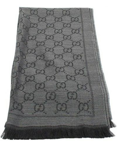 Szalik z jedwabiu - szary Gucci Vintage