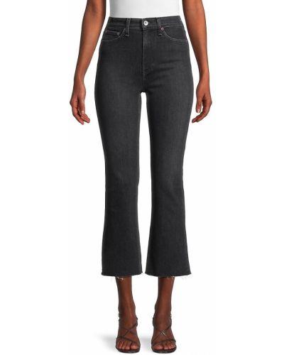 Czarne jeansy z haftem bawełniane Rag & Bone