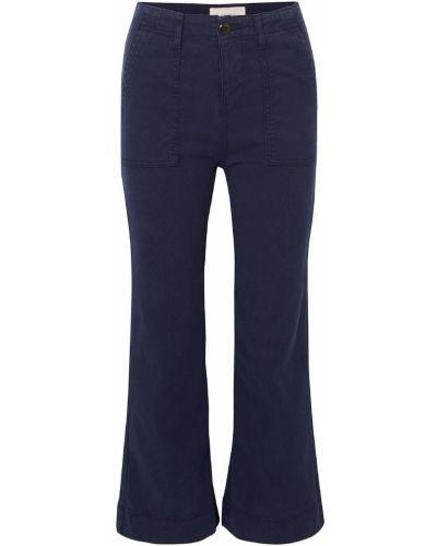 Расклешенные хлопковые брюки стрейч The Great.
