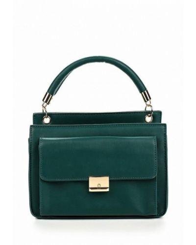 Зеленая кожаный сумка Zarina