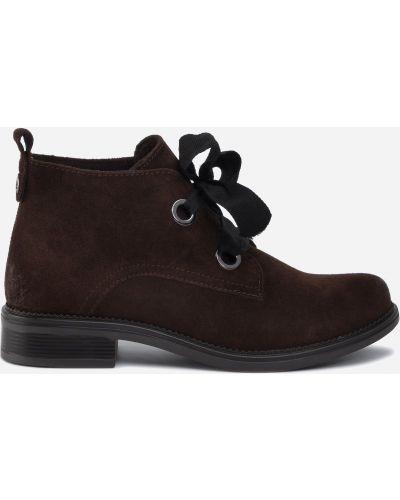 Ботинки на каблуке - коричневые Lasocki