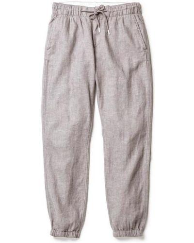 Хлопковые серые брюки с накладными карманами Timberland